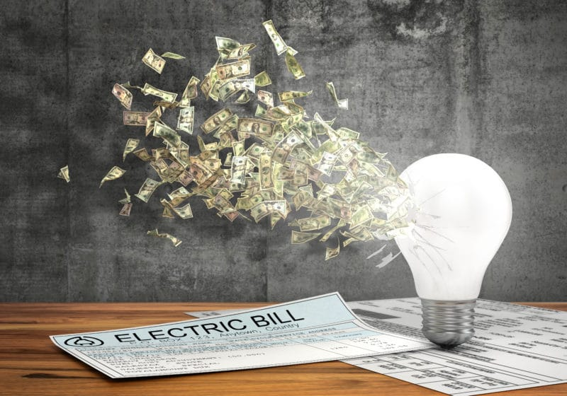 LED light money savings electric energy bill energy efficiency
